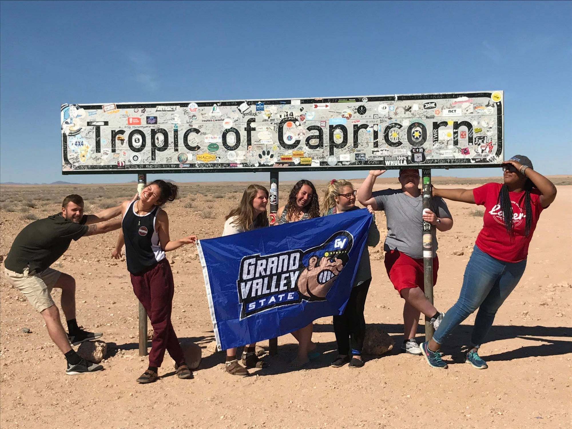2018 Namibia Students at the Tropic of Capricorn